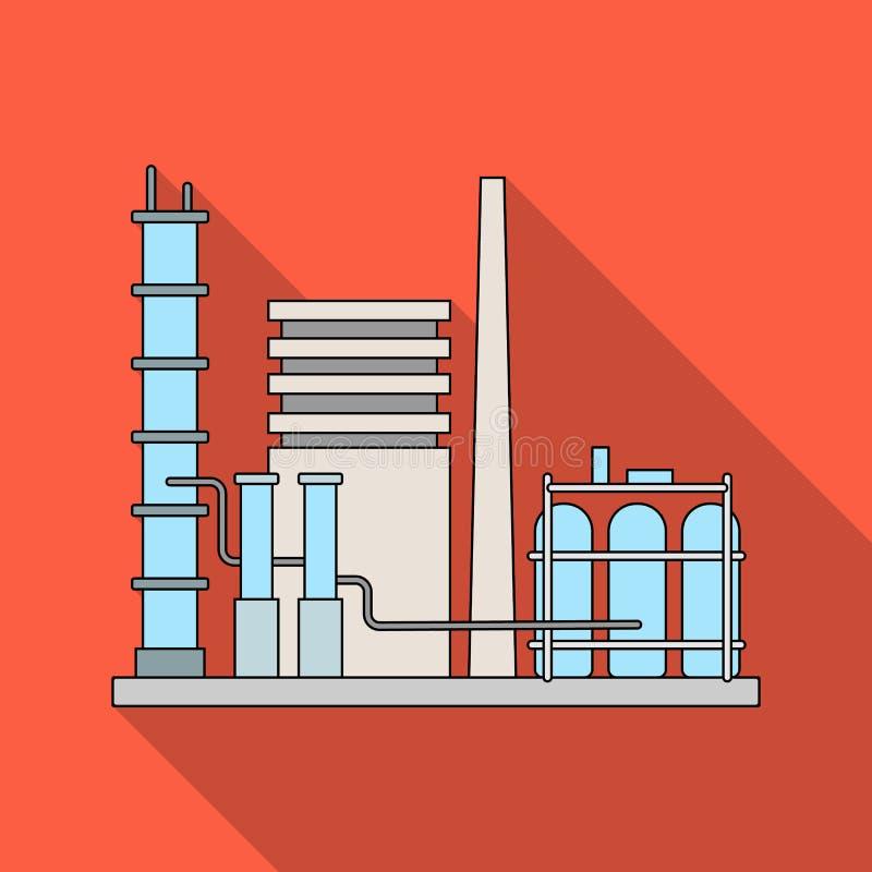 raffinerie Huilez l'icône simple en Web plat d'illustration d'actions de symbole de vecteur de style illustration stock