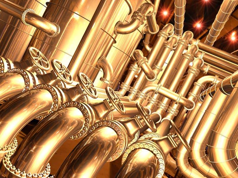 raffinerie intérieure de la canalisation 2 illustration de vecteur
