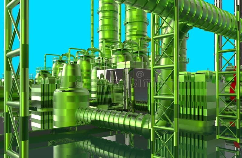 Raffinerie moderne illustration libre de droits