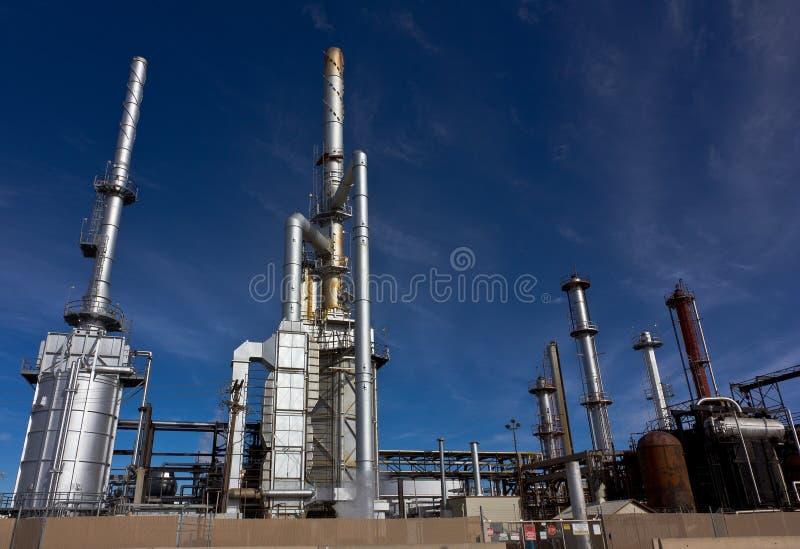 Raffinerie occupée d'usine images libres de droits