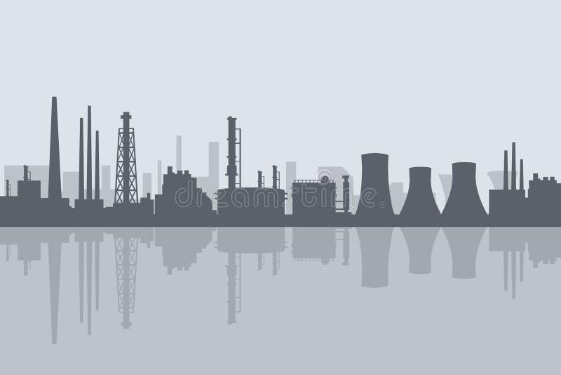 Raffinerie-vecteur de pétrole et de gaz illustration libre de droits