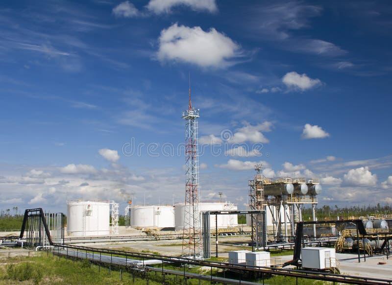 Raffinerieanlage lizenzfreie stockfotografie