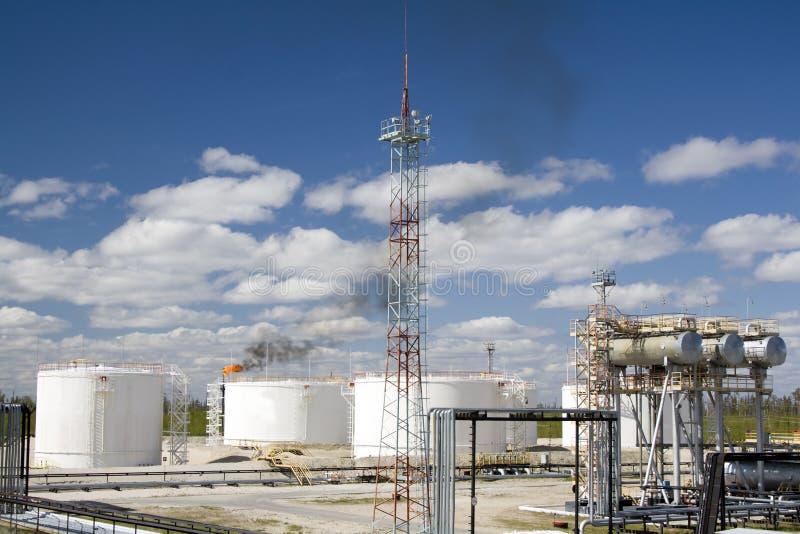 Raffinerieanlage stockbilder