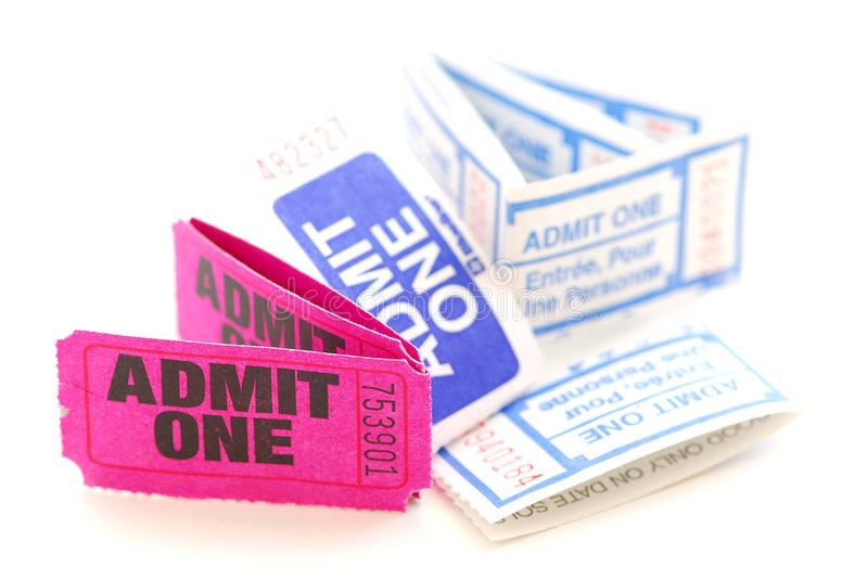 Raffle tickets royalty free stock image