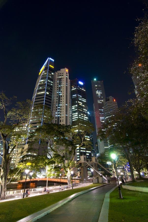 raffles det finansiella stället för området singapore royaltyfri foto