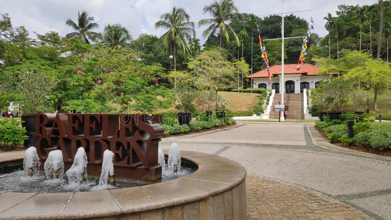 Raffles Garden at Fort Canning Park stock photography