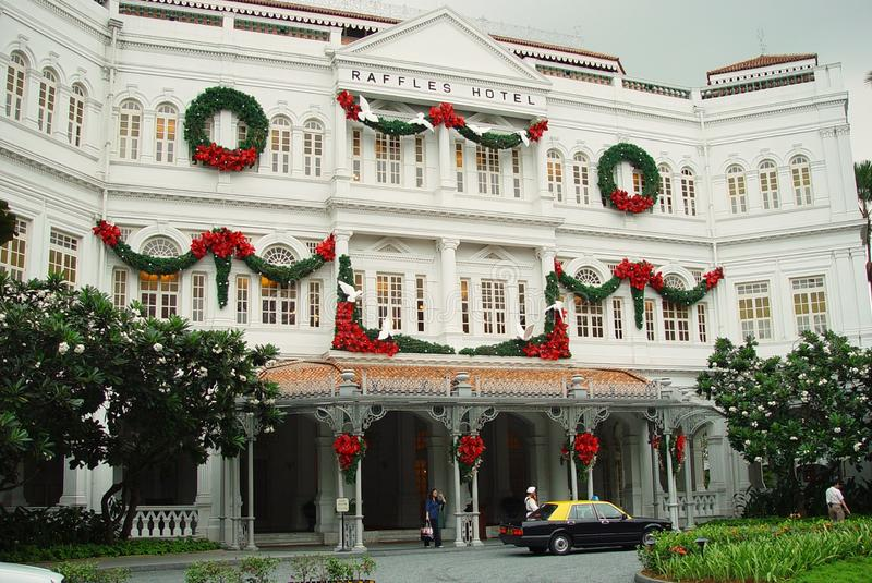 Raffles Hotel Singapore royalty free stock photos