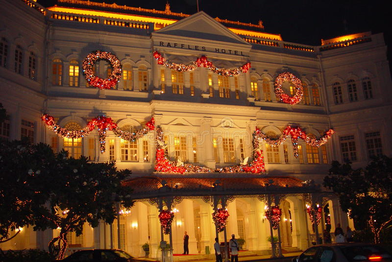 Raffles Hotel Singapore stock photos