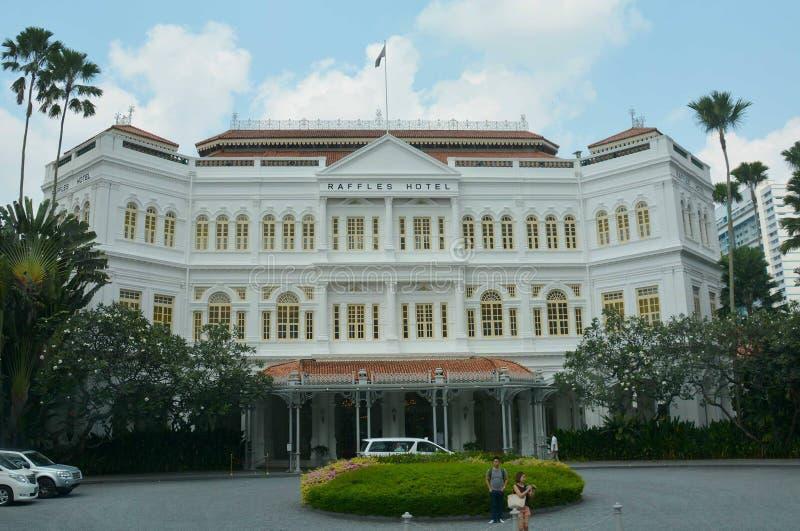 Raffles Hotel, Singapur stockbilder