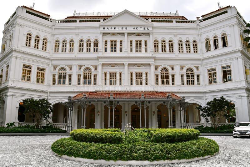 Raffles hotell, Singapore royaltyfri bild