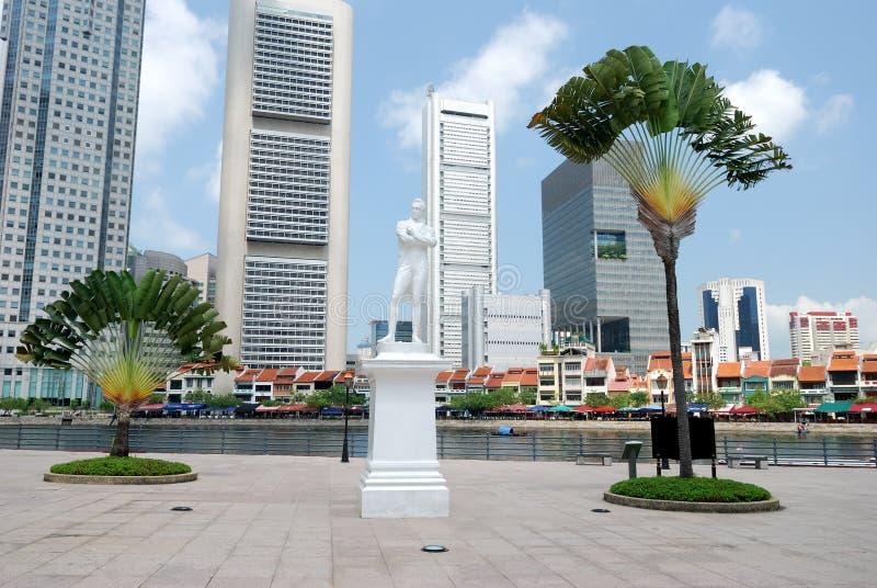 raffles la statua fotografie stock libere da diritti
