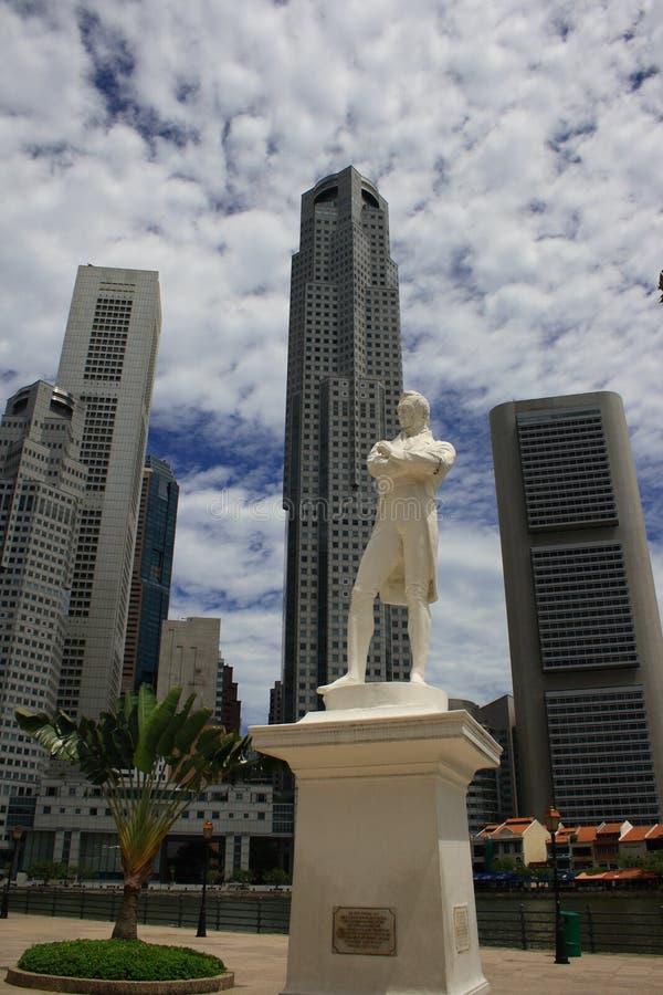 Raffles-Statue stockbilder