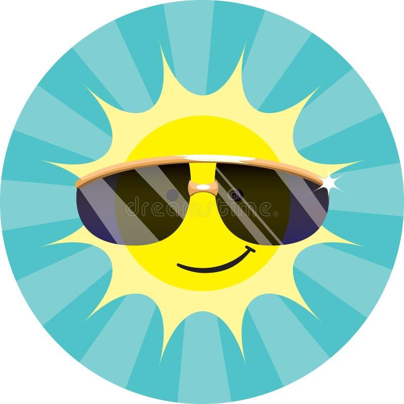 Raffreddi gli occhiali da sole da portare di Sun fotografia stock libera da diritti