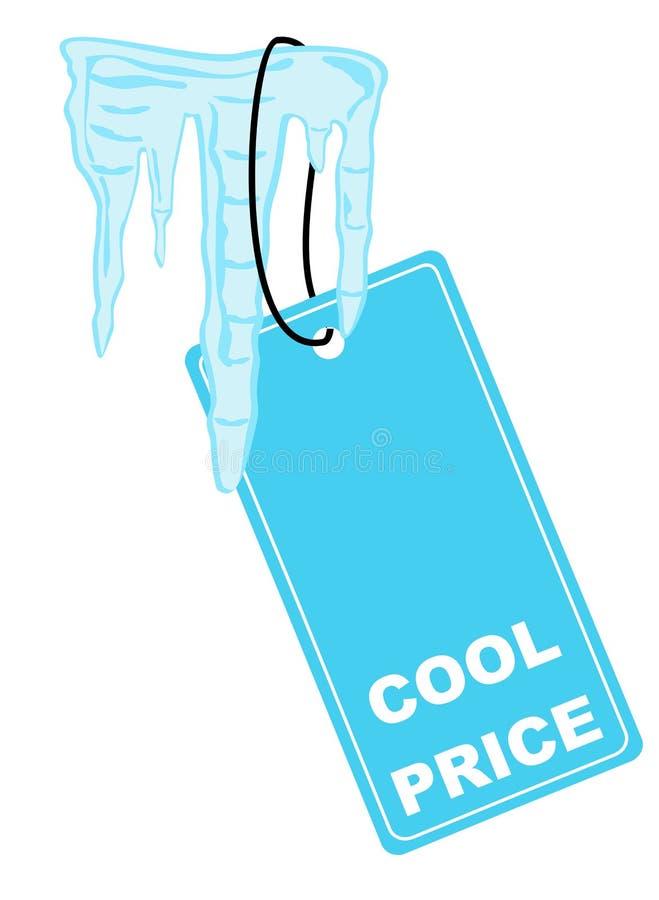 Raffreddi il contrassegno di prezzi illustrazione di stock