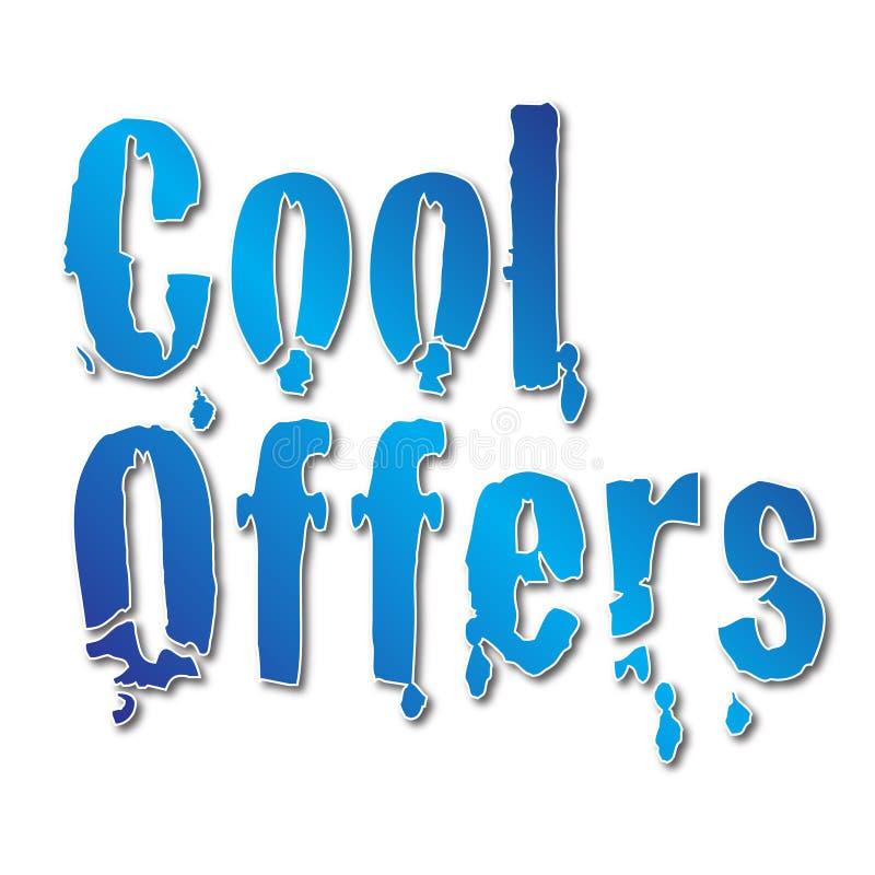 Raffreddi le offerte per la vendita di inverno con effetto ghiacciato illustrazione di stock