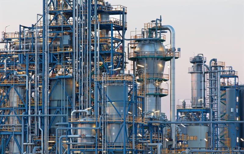 Rafineria ropy naftowej Schwechat w Austria zdjęcie stock