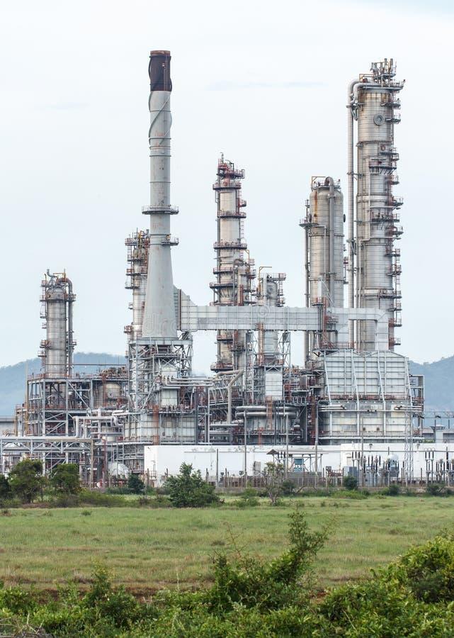 Rafineria Ropy Naftowej w dniu obraz royalty free