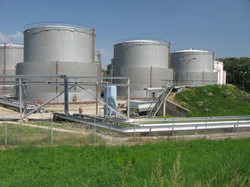 Rafinery do petróleo - indústria imagem de stock royalty free