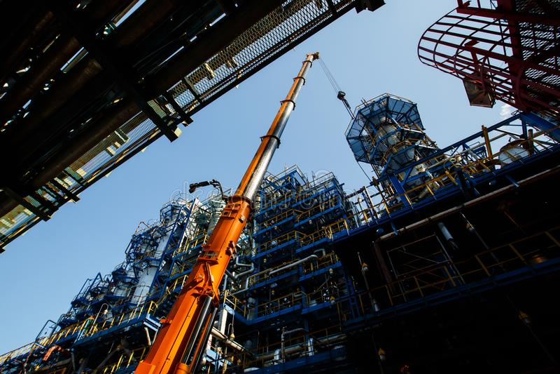 rafineryjny gazu ropy naftowej zdjęcie royalty free