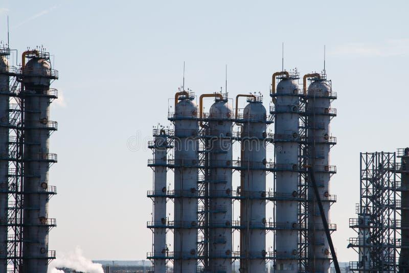 rafineryjny gazu ropy naftowej fotografia stock