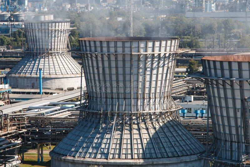 rafineryjny gazu ropy naftowej fotografia royalty free