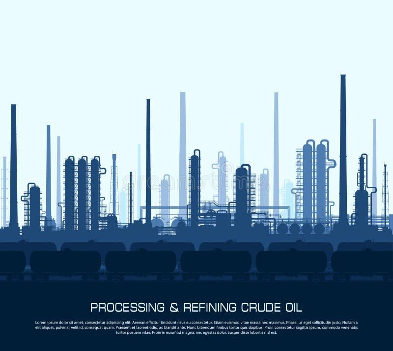 rafineryjny gazu ropy naftowej ilustracji