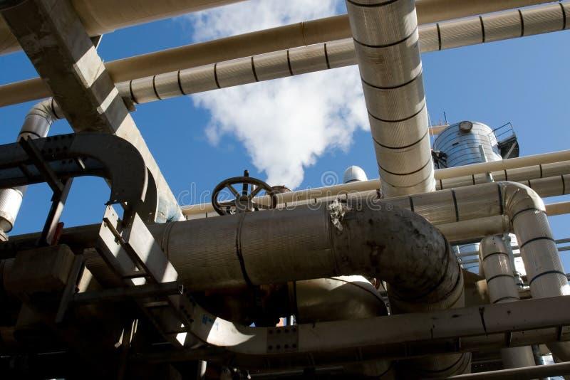 rafineryjny przemysłowej zdjęcie royalty free