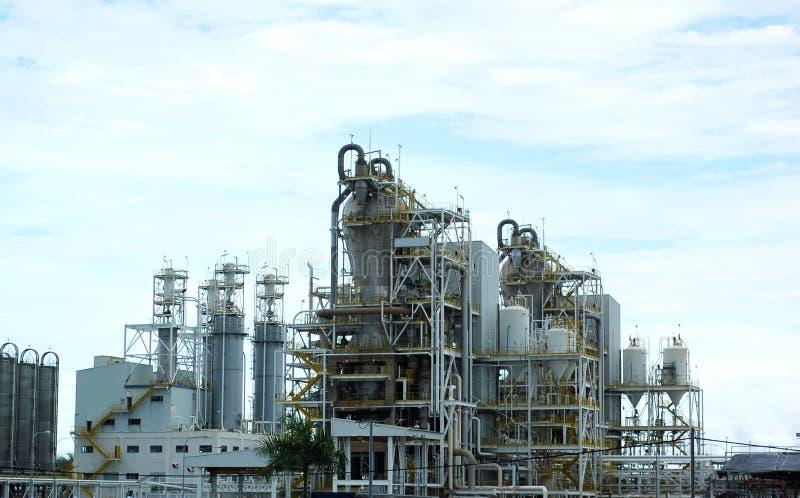 rafineryjny roślin gazowej fotografia royalty free