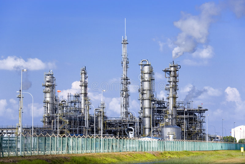 rafineryjny ropy naftowej fotografia royalty free