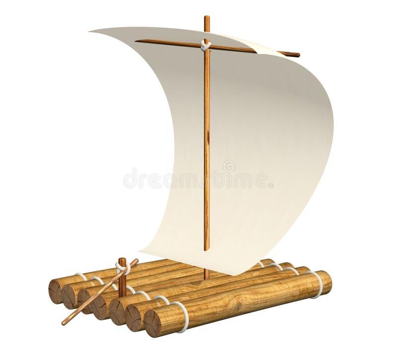 raft royaltyfri illustrationer