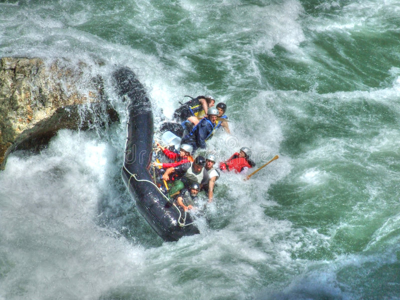 Download Rafting stock image. Image of adventure, action, wave - 1127641