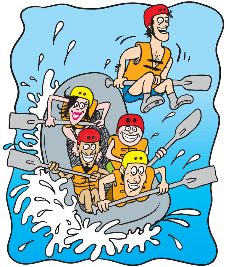 Rafting stock illustratie