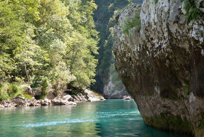 Rafting. On the river Tara royalty free stock image
