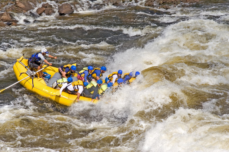 Rafting. Boat stock photo