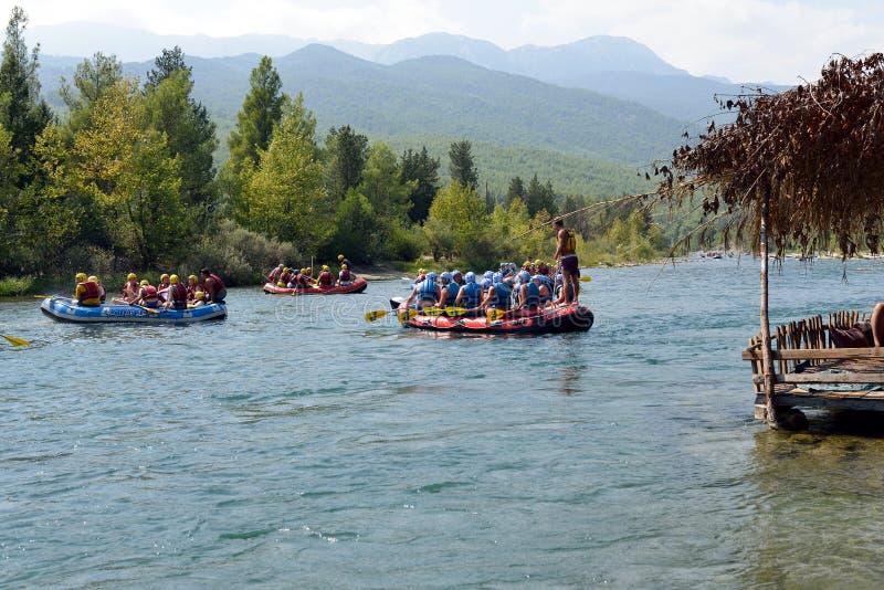 rafting imagen de archivo libre de regalías