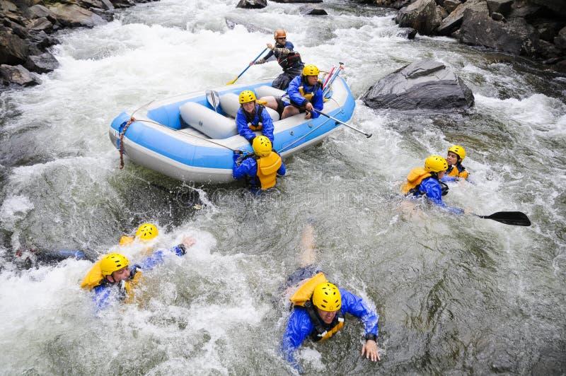 Rafting av räddningsaktionen fotografering för bildbyråer