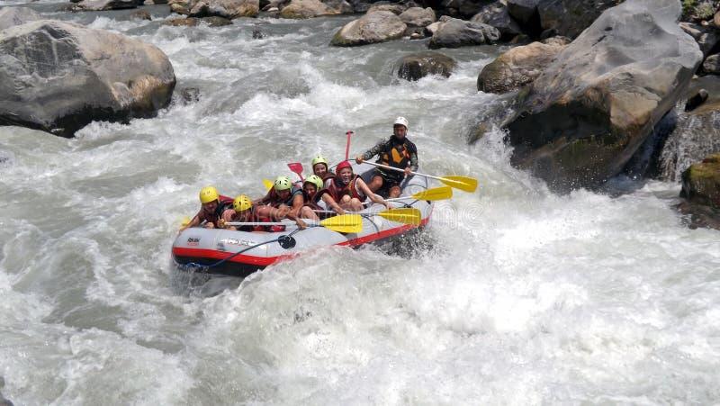 Rafting di Whitewater fotografia stock libera da diritti