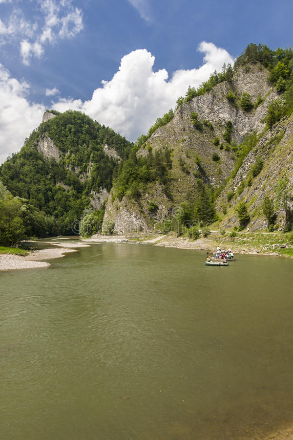 Rafting on Dunajec River stock photography