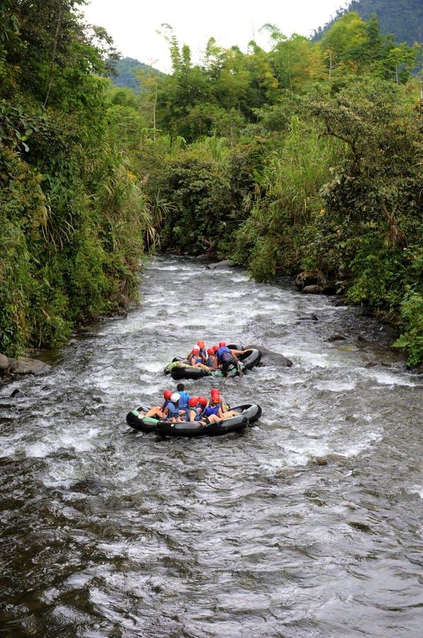 Rafting in Ecuador royalty free stock photos