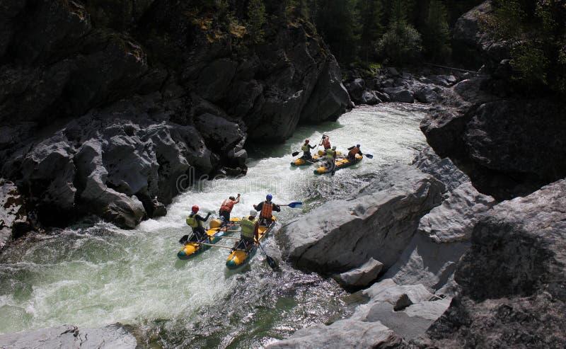 Rafting estremo sul fiume di Bashkaus fotografia stock libera da diritti