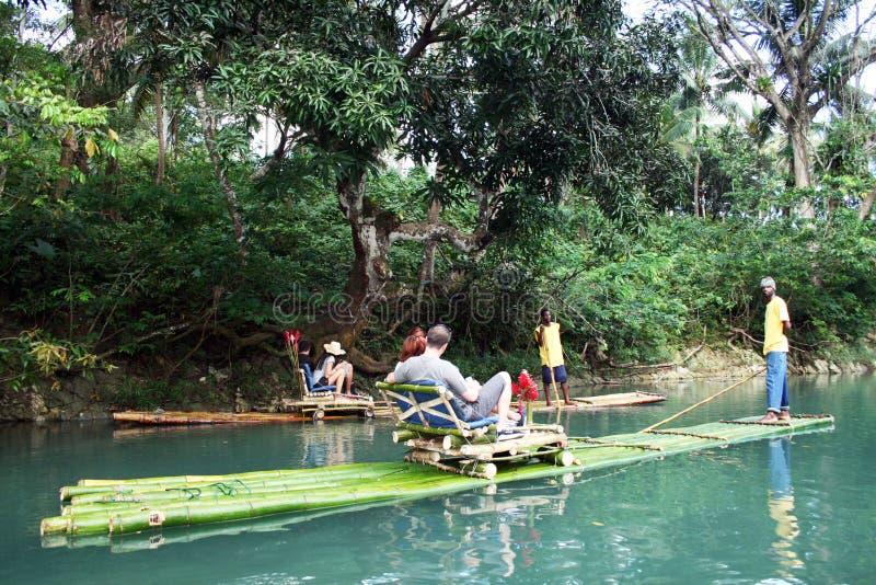 rafting för bambu royaltyfri bild