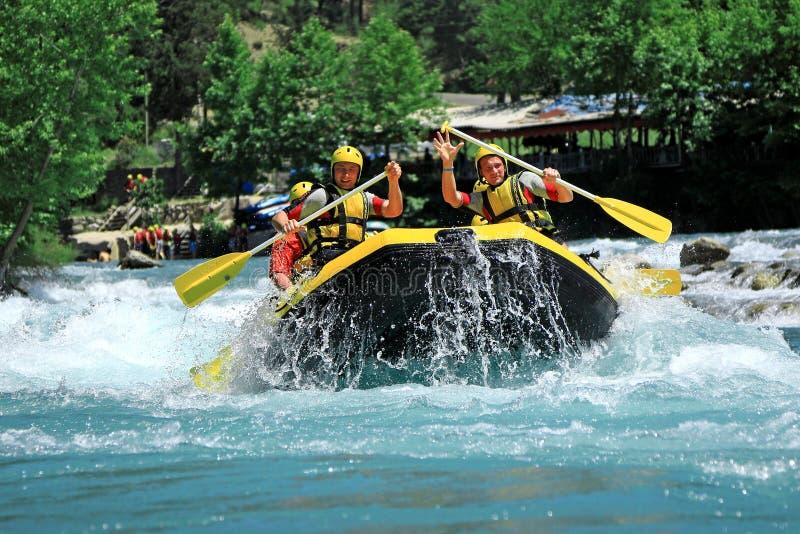 Rafting i Antalya Turkiet royaltyfri foto