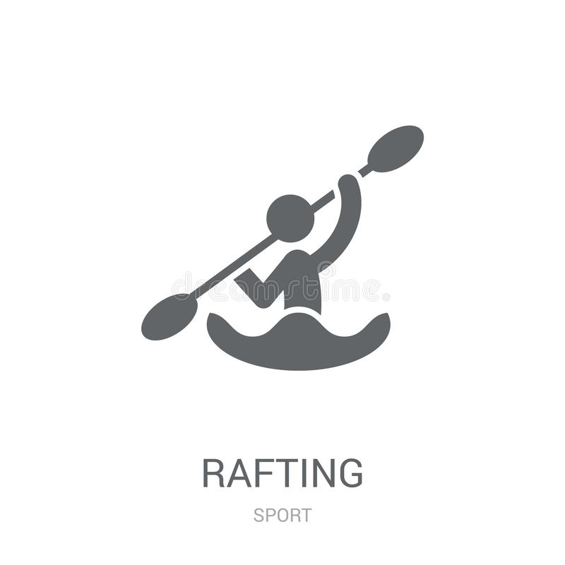 Rafting icon. Trendy Rafting logo concept on white background fr. Om Sport collection. Suitable for use on web apps, mobile apps and print media royalty free illustration