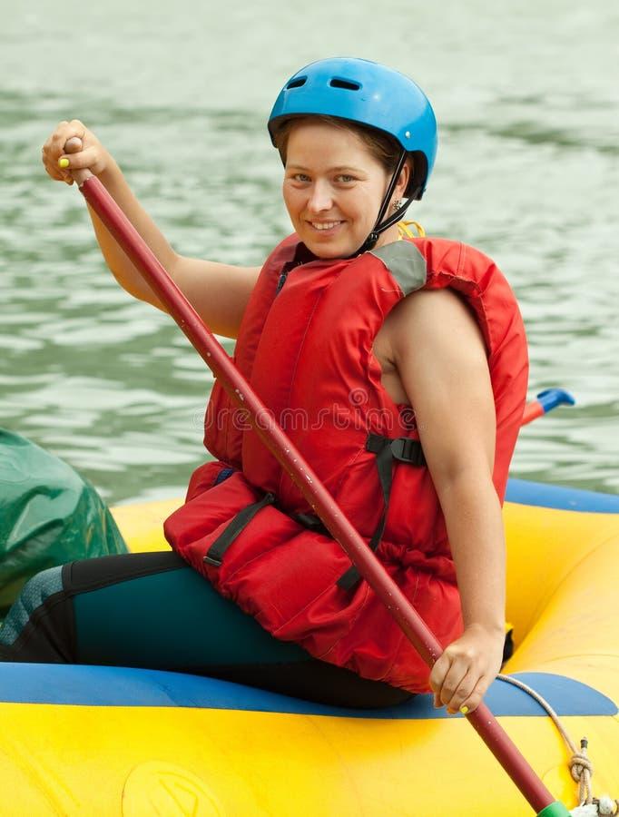Rafting op het vlot stock afbeeldingen