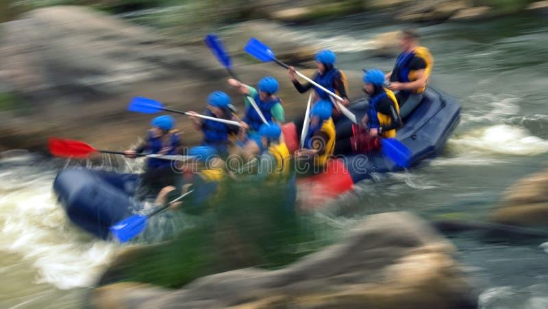Rafting on rapids of the Southern Bug River, Migiya royalty free stock image