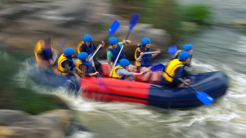 Rafting on rapids of the Southern Bug River, Migiya royalty free stock photography