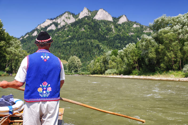 Rafting on river Dunajec, Slovakia. Rafting on river Dunajec st Pieniny mountains at Slovakia stock photos