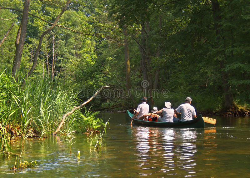 Rafting on the river Krutynia stock photography