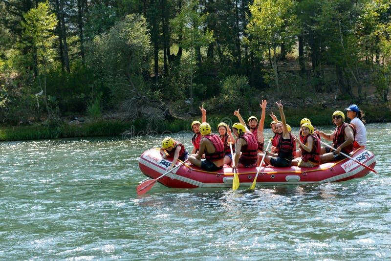 Rafting. On a river near Antalya, Turkey royalty free stock photos