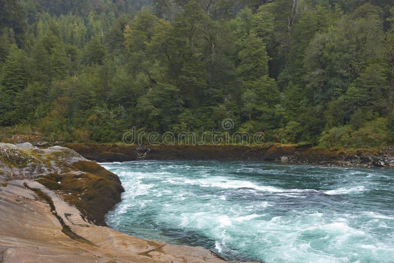 Rafting river of Patagonia royalty free stock image